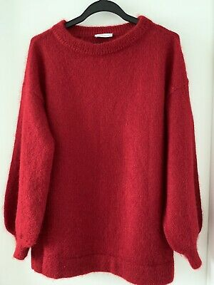 AU129 • Buy Scanlan Theodore Red Mohair Bell Sleeve Sweater Size S/M Brand New!
