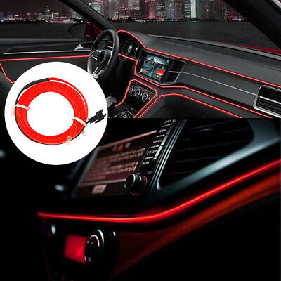 $4.91 • Buy 2M Red LED Car Interior Decorative Atmosphere Wire Strip Light Lamp Accessory