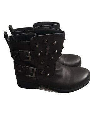 London Rebel Womens UK Size 8 Black Ankle Boots Buttons Fashion Comfy Winter • 18£