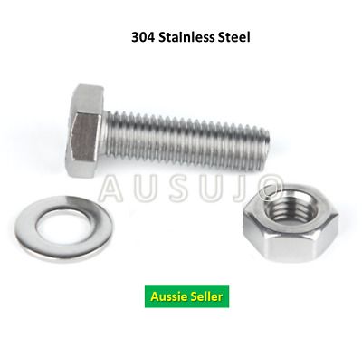 AU12 • Buy M6 304 Stainless Steel Hex Set Screw Nut Washer Kit Package Bolt