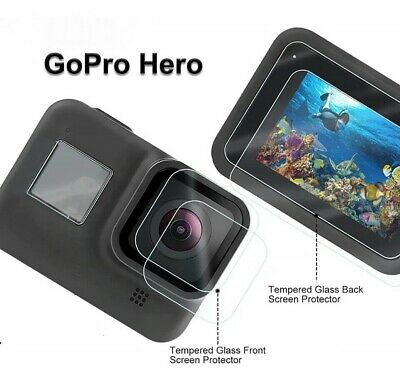$ CDN5.68 • Buy Tempered Glass Screen Protector For Black Go Pro Hero 6 7 8 9 Lens Camera + LCD