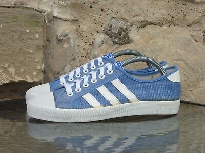 Vintage Adidas Adria UK 7.5 Made In Taiwan 70s OG Denim Blue White Pumps Rare • 69.99£
