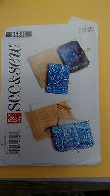 $4 • Buy E-Book Reader Covers, Notebook And Laptop Cases Butterick B5841 Sewing Pattern