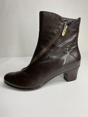 $49 • Buy Everybody By Bz Moda Boots Women's Size 39 Brown Cross Zip Smooth Soft Leather