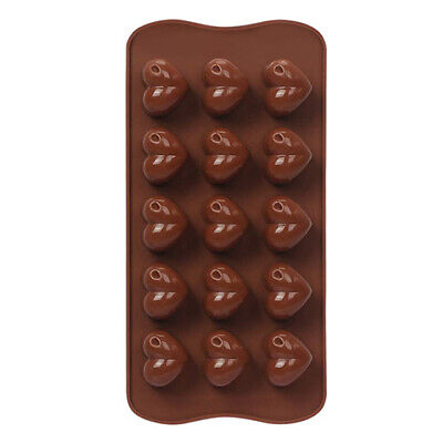 Love Heart Shaped Tray Chocolate Ice Jelly Silicone Mould • 2.60£