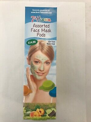7th Heaven Assorted Face Mask Pods Set - 12 X 10ml Assorted Pods RRP £14.99 • 9.99£