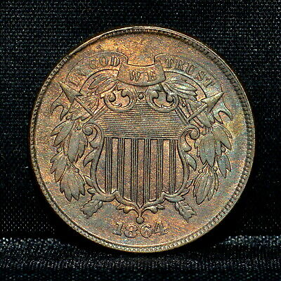 $ CDN194.42 • Buy 1864 2 Cent Piece ✪ Uncirculated ✪ 2c Unc Bu Ms Large Motto L@@k Now ◢trusted◣