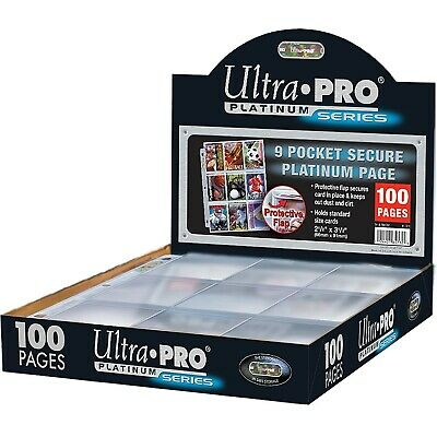 Ultra Pro 9-pocket Trading Card A4 Sleeves Secure Platinum Series Pages 10 - 100 • 4.49£