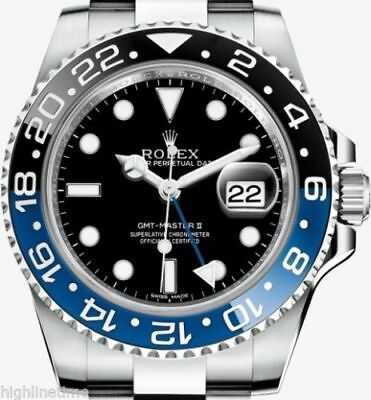 $ CDN21345.84 • Buy Rolex Gmt Master Ii 'batman' Blue/black Bezel~pristine~116710blnr~highline Time