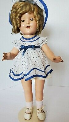 $46 • Buy Vintage Shirley Temple Doll 17  Ideal Composition In Original Dress