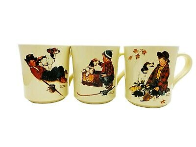 $ CDN26.40 • Buy Set Of 3 Vintage Norman Rockwell A Boy And His Dog Coffee/Tea Cups/Mugs