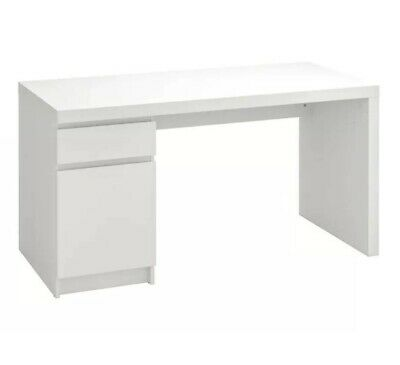 AU71 • Buy IKEA MALM WHITE DESK 140cm X 65cm - Used Great Condition