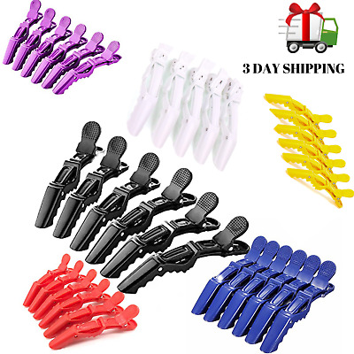 $5.35 • Buy 6PCS Salon Croc Hair Styling Clips-Sectioning Alligator Hair Clip Plastic New