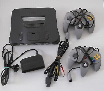 AU152.50 • Buy Nintendo 64 - Console - 2 Controllers - Cords - Memory Expansion - N64 - Works