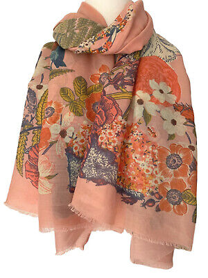Powder Country Animal Print Scarf In Pale Pink BNWT RRP £25 • 15£