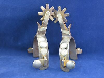 $489 • Buy Vintage Pair Of Single Mounted Hand Crafted Spurs Marked Boone