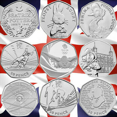 CHEAPEST 50P Fifty Pence Coins Circulated Olympic Paddington Beatrix Potter • 2.69£