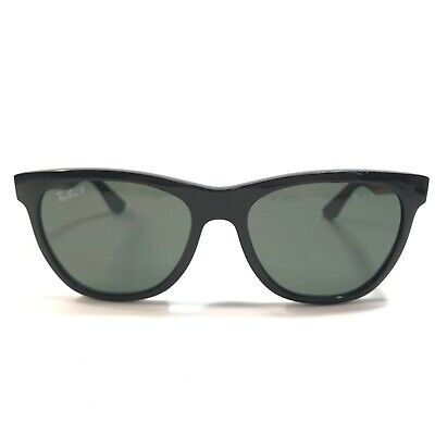 $60 • Buy Ray-Ban Womens Black Cats Eye Polarized Sunglasses W Gray Lenses 54 17 135