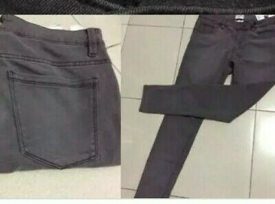 AU10.15 • Buy Pull And Bear Spray On Skinny EUR 36 Suit Size 6 Faded Grey Jeans