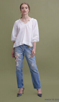 $ CDN56.86 • Buy Roller Rabbit Amisha Top White Size XS/S - MSRP $125 New With Tag