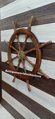 Vintage Nautical 42'' Wooden Ship Wheel  Vintage Pirate Well Decor  • 140£