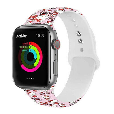 $ CDN8.85 • Buy Cute Mickey Mouse Kitty Sport Band For Apple Watch Series 6 5 4 3 2 Wrist Strap