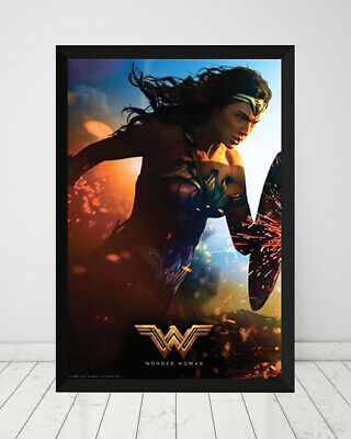 AU90 • Buy Wonder Woman *Framed* Large Poster (90cm X 60cm) Ready To Hang