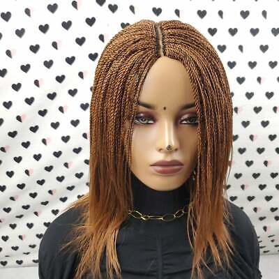 $190 • Buy Senegalese Feathers Small Twisted Million Braids Twist Short Braided Wig