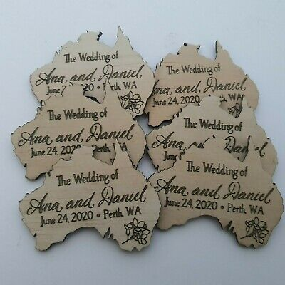 AU44.99 • Buy Personalised Wedding  Save The Date/Wedding  Fridge Magnets- X50 Pack