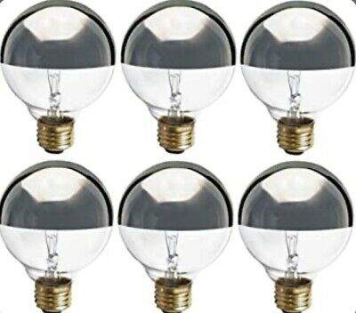 Satco S3861 Incandescent Light Bulb Pack Of 6 Silver Crown Finish 40 Watts 28... • 13.36£