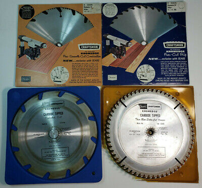 Lot Of 4 Used 10  Saw Blades 60T Veneer, 12T Carbide, 36T Rip, Fine Cut Combo • 11.50£