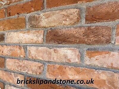 Old Red Reclaimed Camden Brick Slips, Wall Cladding, Outer Tiles 1/2 Sqm • 21£