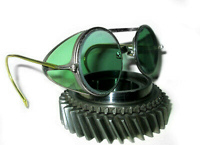 $169.99 • Buy Antique Willson Green Sunglasses Goggles Vtg Old Steampunk Safety Glasses Specs