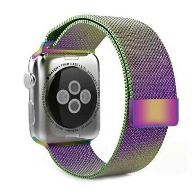 $ CDN11.72 • Buy Apple Watch Series1-5 Milanese Loop Band MB-42mm Colorful Replacement 316L Steel