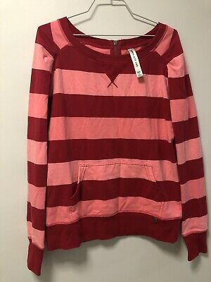 AU10.50 • Buy Lorna Jane Large Pink And Red Striped Jumper