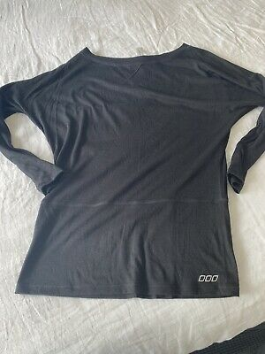 AU14.50 • Buy Lorna Jane Black Long Sleeved Top With Mesh Detail Size M