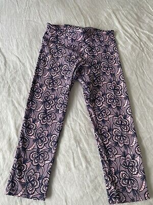 AU18.50 • Buy Lorna Jane 3/4 Tights Size M In Pink And Blue Floral