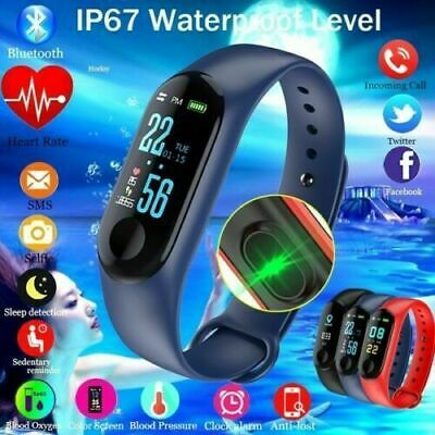 $ CDN11.75 • Buy M4 Smart Watch Bracelet Blood Pressure Heart Rate Fitness Tracker Wristband US!!