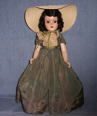 $69 • Buy Vintage Madame Alexander Composition Doll~Gone With The Wind~18  SCARLETT O'HARA