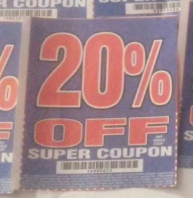 $3 • Buy  Harbor Freight 20% Off Discount Coupon - Huge Savings! Home Depot Lowe's