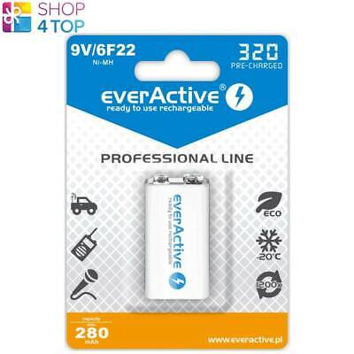 AU13.39 • Buy EVERACTIVE PROFESSIONAL LINE BATTERY 9V 6F22 E BLOCK 320 PRE-CHARGED 280mAh  NEW