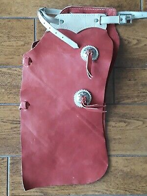 $80 • Buy Red Leather Western Cowboy Kids Chaps 18