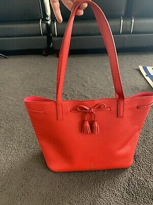 AU45 • Buy Kate Spade Leather Large Watermelon Red Tote Bag