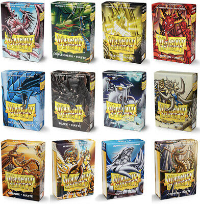 DRAGON SHIELD SMALL CARD SLEEVES MATTE JAPANESE SIZE / YUGIOH SLEEVES 60 Count • 5.49£