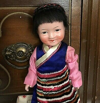 $29.50 • Buy Antique/vintage Chinese Composition Doll In Original Box