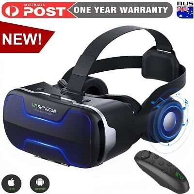 AU74.99 • Buy SHINECON Virtual Reality All In One VR Box Headset 3D Glasses With VR Controller
