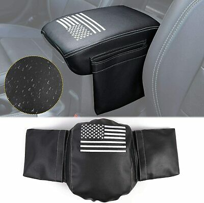 $16.95 • Buy Center Console Armrest Pad Cover PU Leather For Jeep Wrangler JL JT 2018-2020
