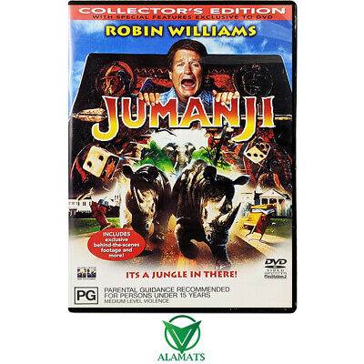 AU11.95 • Buy Jumanji - Robin Williams - Kirsten Dunst (DVD)