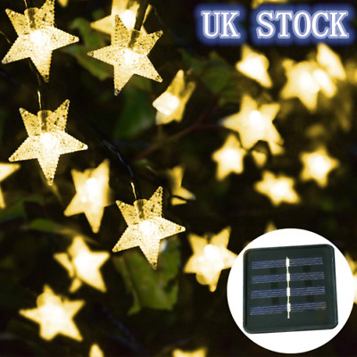 20-60LEDs Solar/Battery Fairy String Twinkle Star Lights Outdoor Garden Party • 3.75£