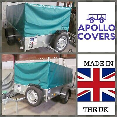 Trailer Cover For Ifor Williams P8e With Mesh Sides Green  • 155.99£